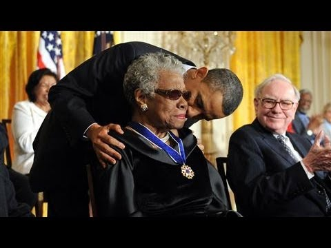 Maya Angelou Receives 2010 Presidential Medal of Freedom
