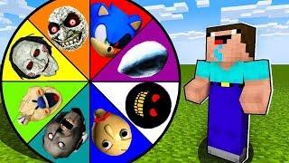 Minecraft Battle: NOOB vs PRO: SCARY ROULETTE CHALLENGE / Animation