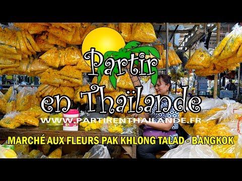 Marché aux fleurs Pak Khlong Talad - Bangkok