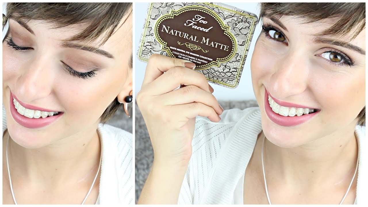 Exceptionnel NATURAL MATTE MAKE UP : Maquillage mat naturel ! TOO FACED - YouTube JZ02