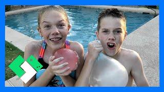 AMAZING WATER WUBBLE WATER BALLOON BALLS! (Day 1846)   Clintus.tv