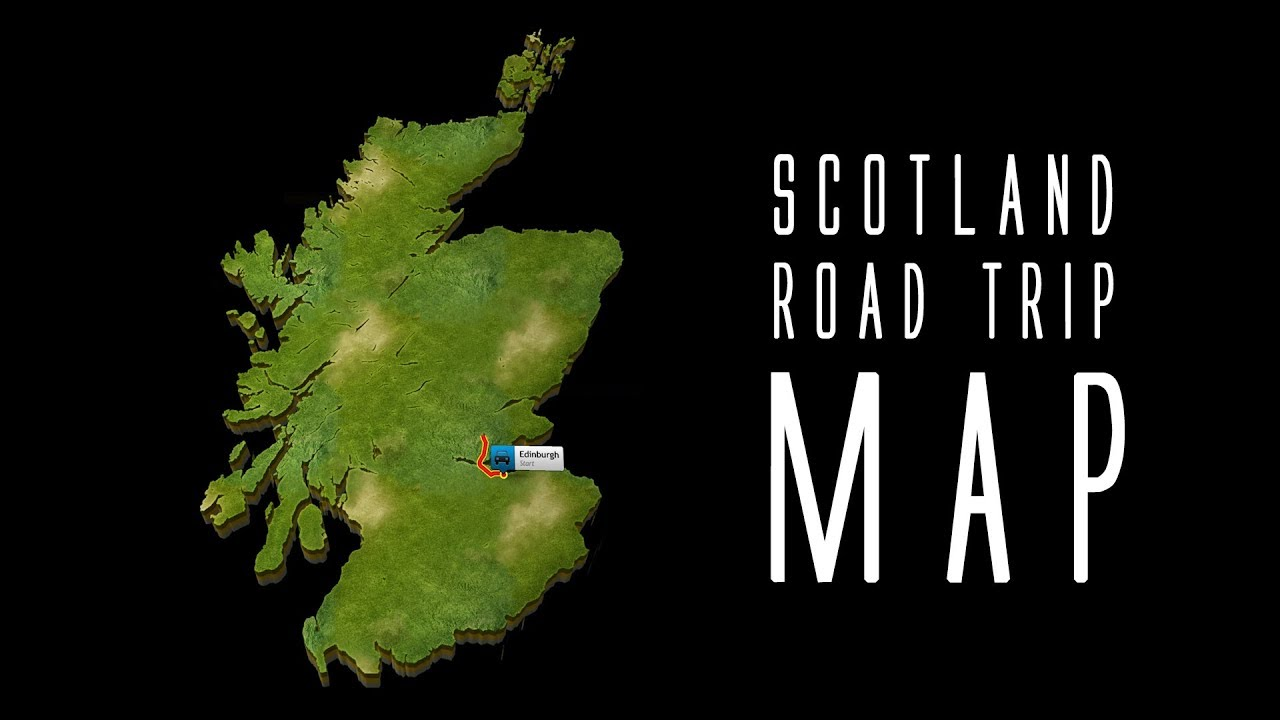 TLOG #10 1 Roadtrip Scotland Overview Journey Map with Start in Edinburgh