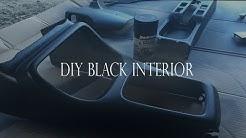 DIY Black Interior (Part 1) dupli color fabric and vinyl paint | Vlog #7