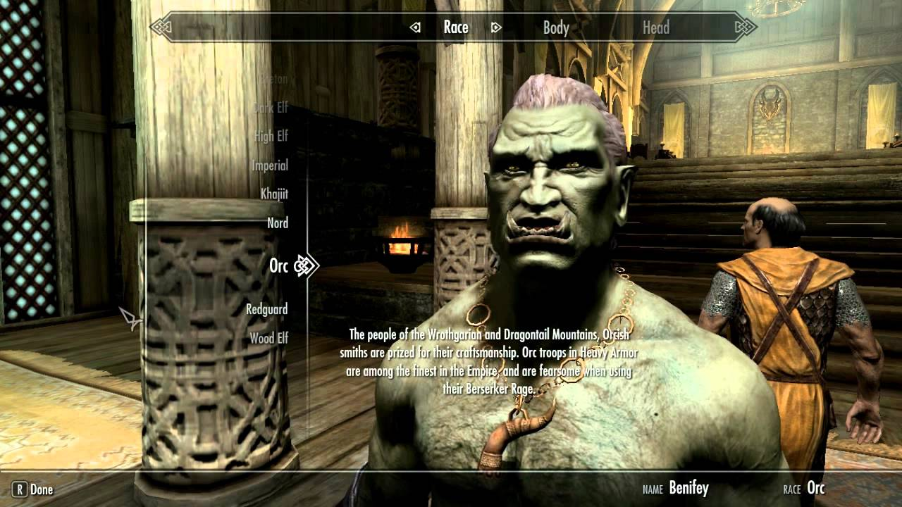 Skyrim (PC)- How to change race without resetting skills
