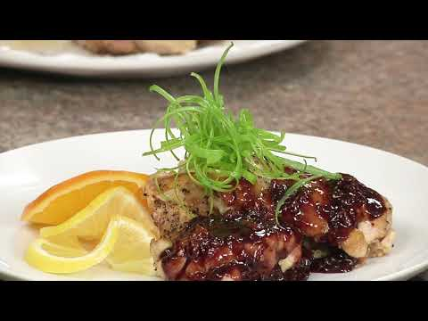 Orange Apricot Chicken with Thyme and Rosemary