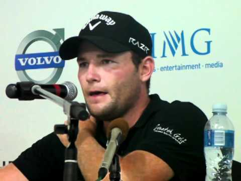 Branden Grace interview at the Volvo Golf Champions