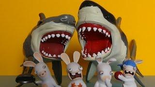 sharks vs rabbids animal planet mega shark great white attack set invasion