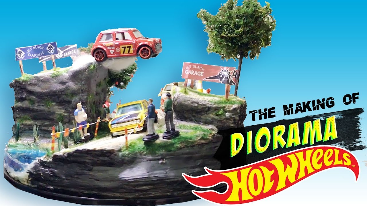 the making of diorama hot wheels youtube. Black Bedroom Furniture Sets. Home Design Ideas