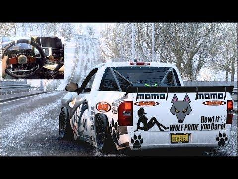 Forza Horizon 4 - Deberti Chevy DriftTruck 1300hp - Better Then Hoonitruck? (Fanatec Wheel)