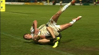 Superb try saving tackle from Joe Simpson