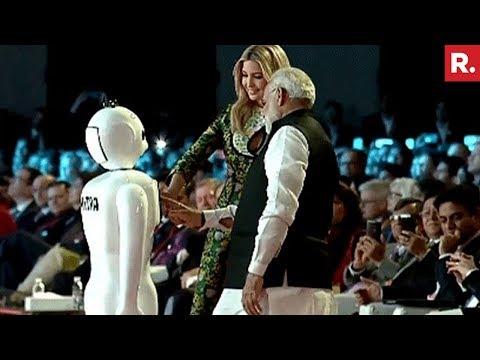 Made In India Bot 'Mitra' Greets PM Modi & Ivanka Trump
