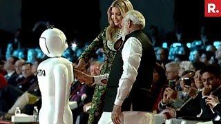 Made In India Bot 'Mitra' Greets PM Modi & Ivanka Trump thumbnail
