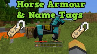 minecraft xbox ps3 horse armor name tags tutorial w locations