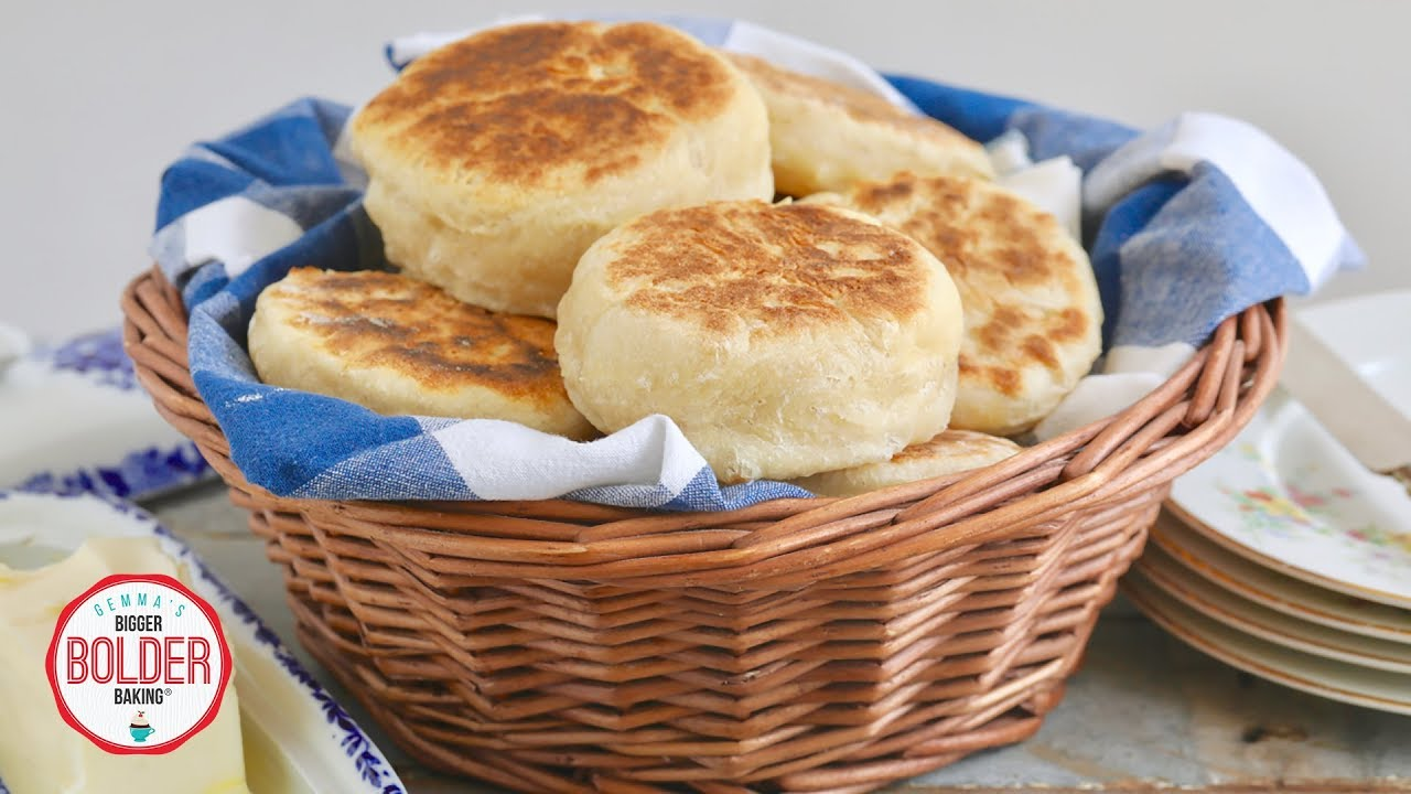How to Make English Muffins | No Oven Needed | Bigger ...