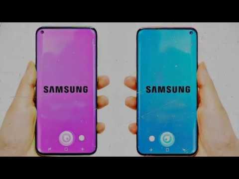Samsung Galaxy S10 final Design 8K video.