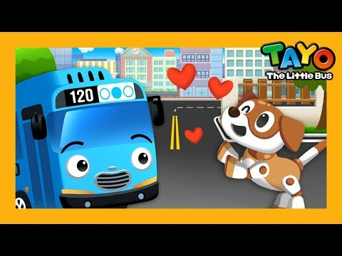 Tayo has a dog! l Story Book l Learn Street Vehicles l Tayo the Little Bus