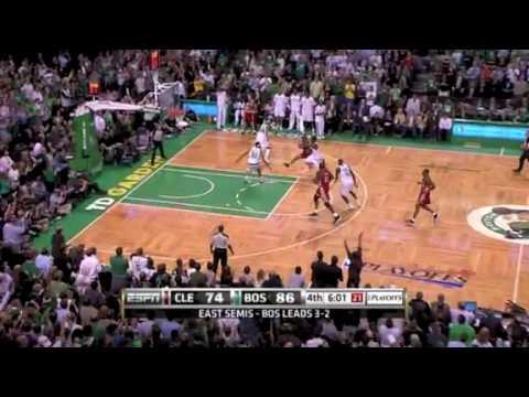 Wallace score the three pointer Tony Allen Steal Garnett Dunk GAMEBREAKER Celtics Cavaliers Playoffs