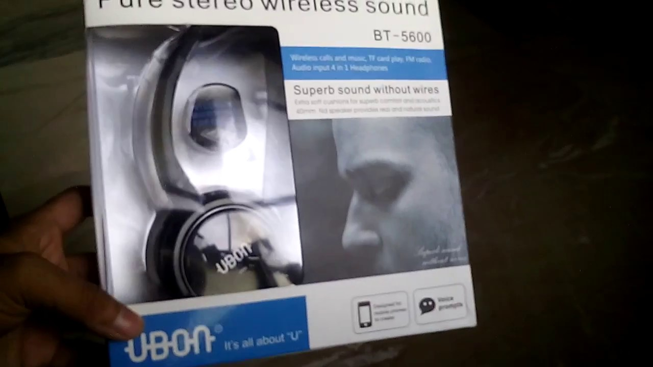 3f931745062 5600 Pure stereo wireless bluetooth headphone with mic and call pickup  option unboxing and review