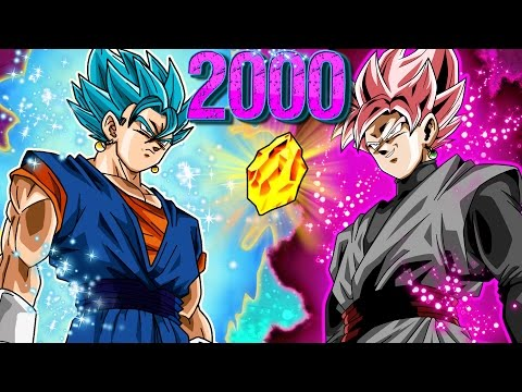 2000+ DRAGON STONE SUMMON! Blue Vegito + Super Saiyan Rose Banner GLOBAL! Dokkan battle