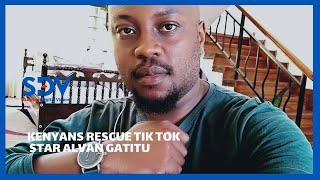 Kenyans come to rescue of Tik Tok star Alvan Gatitu after landlord locked him out