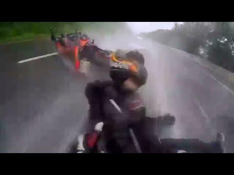 MOTORCYCLE CRASH - HE SAVES HIS GIRLFRIEND - YouTube