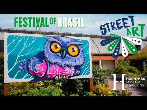 Street art on display as part of the Festival of Brazil - Horniman Museum and Gardens