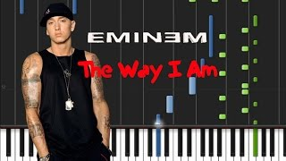 Eminem - The Way I Am  [Piano Tutorial] (♫)