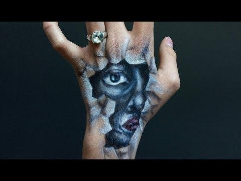 Drawing creepy hand art| Dante kedde