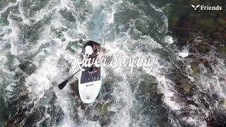 リバーSUPサーフィン2019 静岡富士川サップ フレンズ Friends river SUP《短編動画SSM9-1》