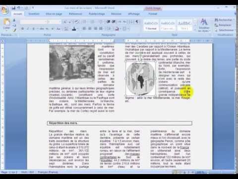 apprendre word 2007 (comment créer un effet journal)