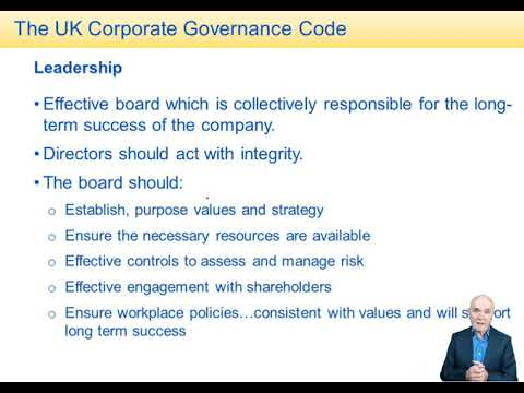 Corporate Governance And Auditor Regulation - ACCA Advanced Audit And Assurance (AAA)
