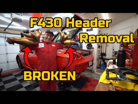 The MOST COMMON FAILURE in FERRARI F430's – BROKEN HEADER REPLACEMENT