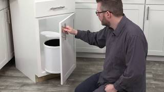 How to install a Pivot Out Trash Bin in face frame cabinets - Real Solutions for Real Life®