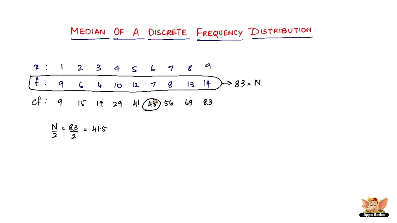 How To Find The Median Of A Discrete Frequency Distribution?