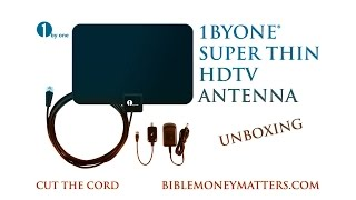 Unboxing of 1byone® Super Thin HDTV Antenna With 50 Mile Range & Signal Amplifier