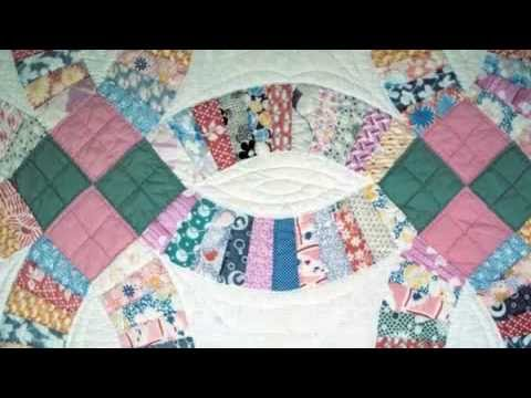 beginners easy quilt patterns wedding ring quilt design - YouTube