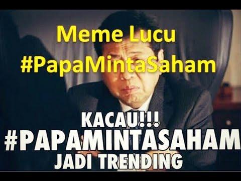 Kumpulan meme sidang MKD, lucu abis, #papa minta saham