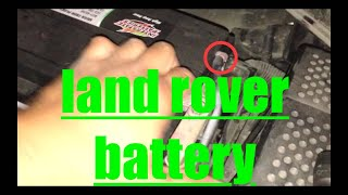 EASY Battery Replacement Land Rover LR3 √(, 2016-10-06T04:36:08.000Z)