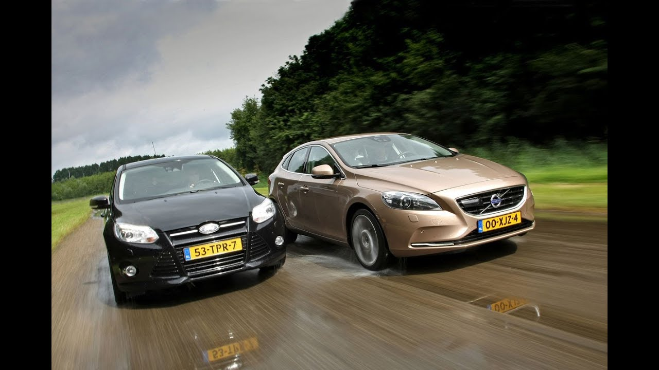 volvo v40 vs ford focus youtube. Black Bedroom Furniture Sets. Home Design Ideas