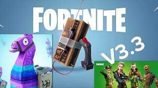 Fortnite Battle Royale V3.3 Patch Gameplay - Remote Explosives, Supply Llamas Gameplay