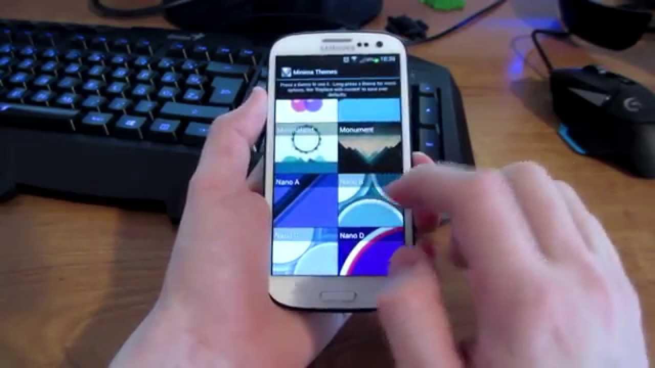Minima Live Wallpaper HD Samsung Galaxy S3