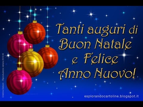 Video auguri natale e felice anno nuovo youtube for Auguri originali per natale