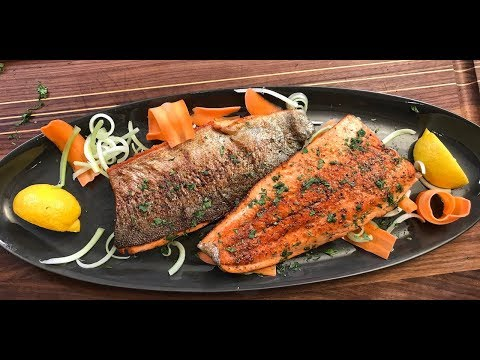Pan Fry Trout Fillets – crispy without flour | Christine Cushing