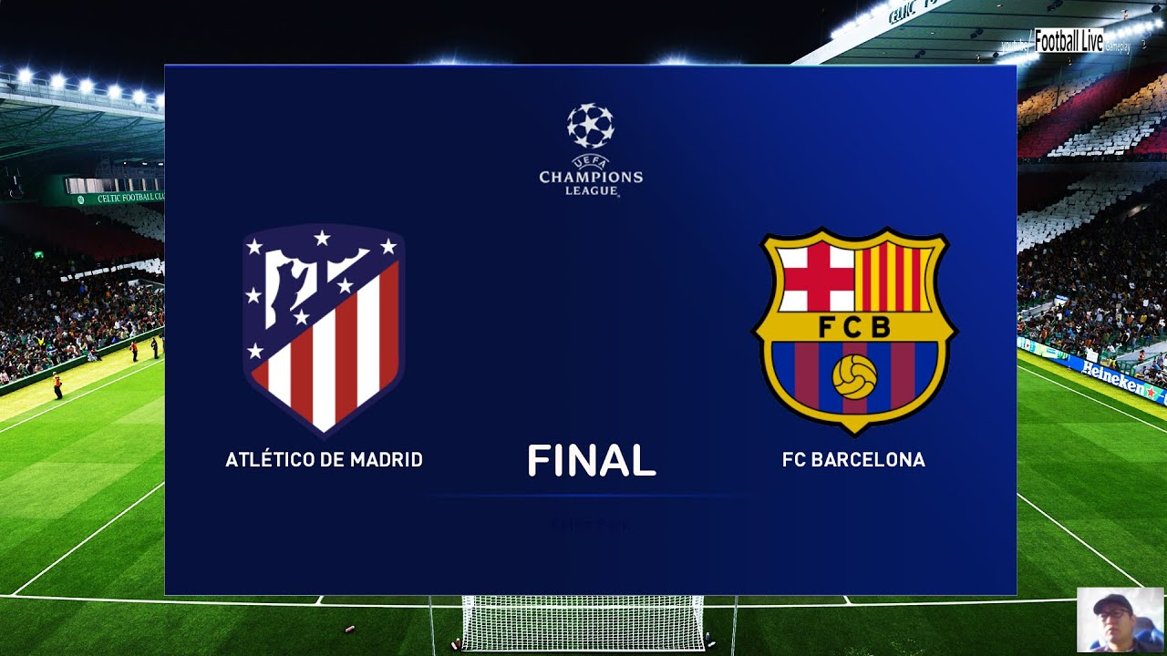 Pes 2020 Atletico Madrid Vs Barcelona Final Uefa Champions League Ucl Gameplay Pc Youtube