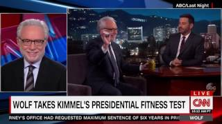 Wolf Blitzer opens pickle jar that pops on Jimmy Kimmel after Hillary Clinton's didn't