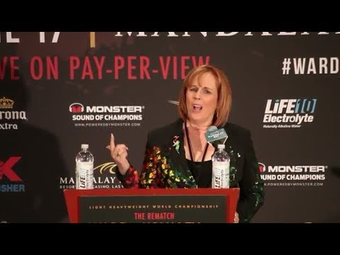 KATHY DUVA IS DISPICABLE; TELLS PEOPLE IN MEDIA ROOM TO SHUT-UP AFTER KOVALEV GETS TKO'D!