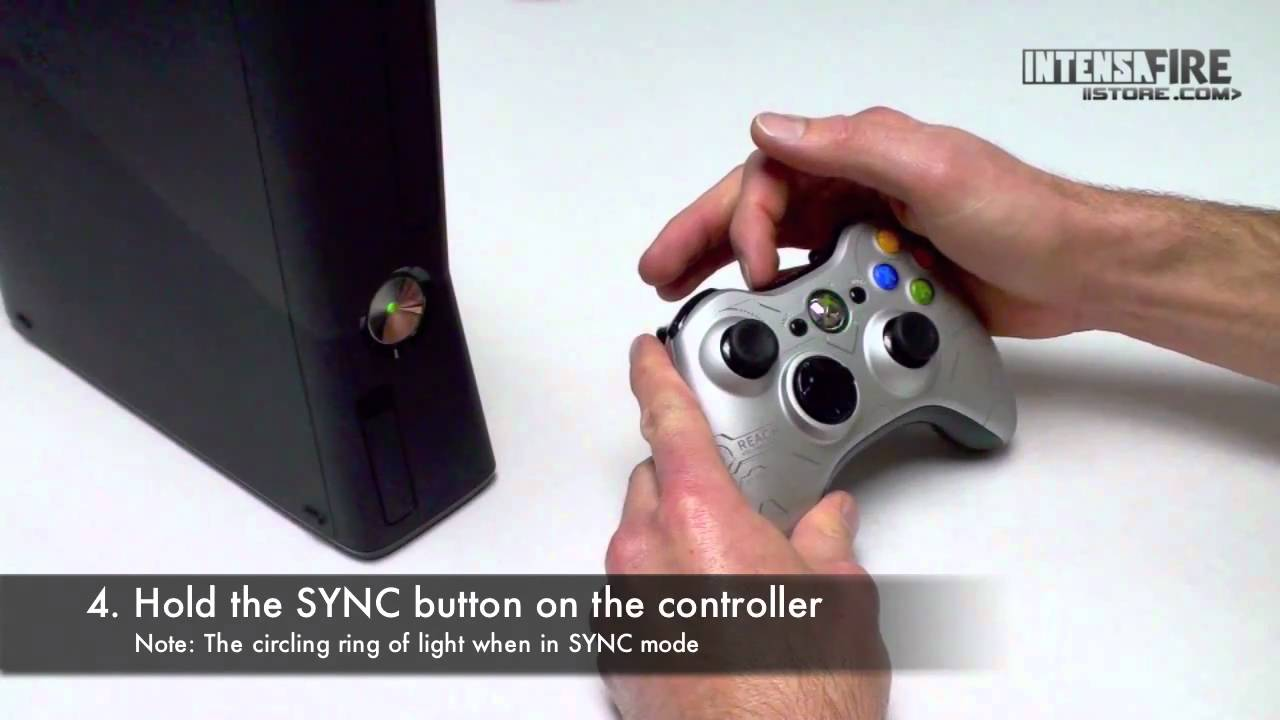 How To Connect An Xbox 360 Wireless Controller To An Xbox 360 Youtube