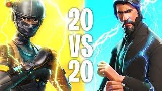 """Fortnite 20v20 """"New Fortnite Game Mode 20v20"""" Fortnite Teams Of 20 Gameplay (Fortnite Update 1.48)"""