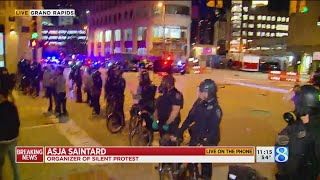 Organizer of silent protest gives message after Grand Rapids unrest, violence