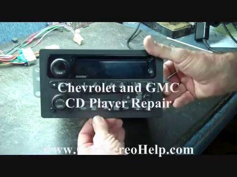 gm radio cal err caravan wiring diagram 240v chevrolet and gmc cd player repair youtube